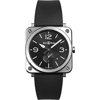 Bell & Ross BRS-BLC-ST Mens Rubber Strap Watch, Black