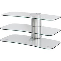 Off The Wall Skyline ARC1000 Silver TV Stand for Curved Screen TVs up to 55