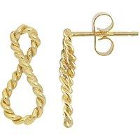 London Road 9ct Gold Infinity Earrings, Gold