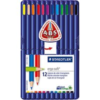 Staedtler Ergo Soft Colouring Pencils, Pack of 12