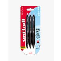 Uniball UMN-307 Rollerball Pens, Pack of 3, Black