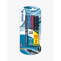 Pilot V5 Liquid Ink Rollerball Pen, Pack of 5, Multi