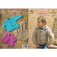 King Cole Childrens Jacket Knitting Pattern, 3181
