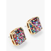 shop for kate spade new york Small Square Glitter Stud Earrings, Gold/Multi at Shopo
