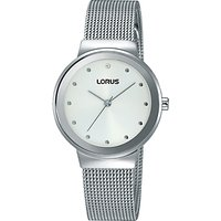 Lorus Womens Mesh Bracelet Strap Watch