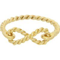 London Road 9ct Gold Twisted Rope Infinity Ring, Gold