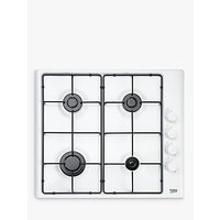 Beko HIZG64120SW Integrated Gas Hob, White