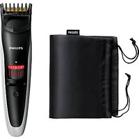 Philips QT4013/23 Beard & Stubble Trimmer, Black / Red