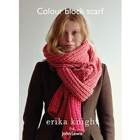 Erika Knight for John Lewis Colour Block Scarf Knitting Pattern