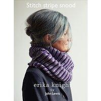 Erika Knight for John Lewis Stitch Stripe Snood Knitting Pattern