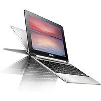 ASUS Chromebook Flip C100PA, ARM Cortex-A17, 4GB RAM, 16GB eMMC Flash, 10.1 Touch Screen, Silver