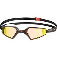 Speedo Aquapulse Max Mirror 2 IQfit Swimming Goggle, Black/Orange