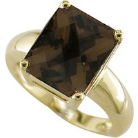 London Road Square 9ct Yellow Gold Bloomsbury Ring, Gold