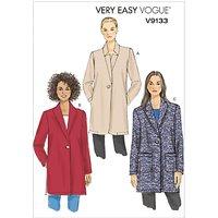 Vogue Womens Jacket Sewing Pattern, 9133