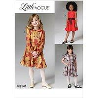 Vogue Girls Little Vogue Party Dress Sewing Pattern, 9141