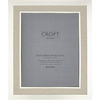 John Lewis Croft Silver Edge Linen Photo Frame, 8 x 10