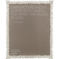 John Lewis Jasmine Silver Plated Photo Frame, 8 x 10