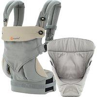 Ergobaby 360 Bundle of Joy Baby Carrier With Insert, Grey