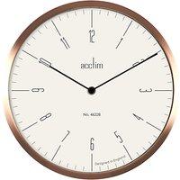 Acctim Evo Wall Clock, Dia. 30cm, Copper