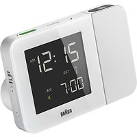 Braun Projection Radio Controlled Alarm Clock, White