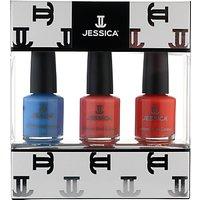 Jessica Summer Brights Midi Vitamin Enriched Custom Colours Gift Set, 3 x 7.4ml