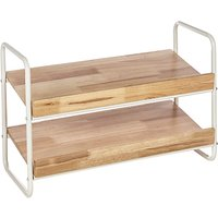 House by John Lewis 2 Tier Shoe Rack