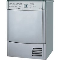 Indesit IDCL85BHS Ecotime Condenser Tumble Dryer, 8kg Load, B Energy Rating, Silver