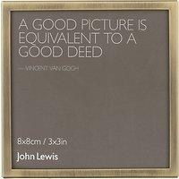John Lewis Daya Photo Frame, 3 x 3 (8 x 8cm)