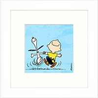 Peanuts - Snoopy and Charlie Brown, Framed Print, 23 x 23cm