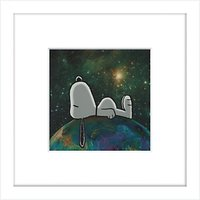 Peanuts - Snoopy On Top of The World, Framed Print, 23 x 23cm