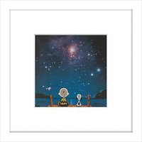 Peanuts - Snoopy and Charlie Stargazing, Framed Print, 23 x 23cm