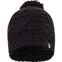 The North Face Triple Cable Pom Beanie, One Size, Black