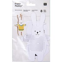 Rico Paper Poetry Assorted Animal Embroidery Board