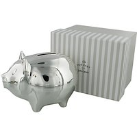 John Lewis and Partners Silver Plated Piggy Bank