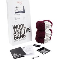 Wool And The Gang Moby Scarf Knit Kit, Margaux Red