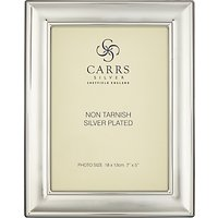 Carrs Linear Ridge Silver Plated Photo Frame