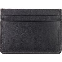 John Lewis Leather Card Holder, Black