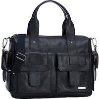 Storksak Sofia Leather Baby Changing Bag, Black