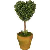 Mini Heart Topiary Tree, Green