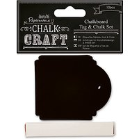 Docrafts Chalkboard Tag Set, Black, 12pcs