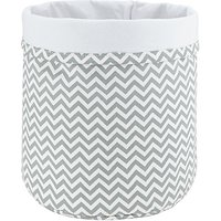 John Lewis Zig Zag Storage Bucket, Grey