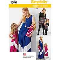 Simplicity Easy-To-Sew Child and Misses' Maxi Dress Sewing Pattern, 1076