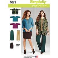 Simplicity Women's Plus Size Knit Sportswear, 1071