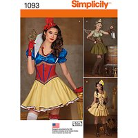 Simplicity Fairy Tale Costume Sewing Pattern, 1093, H5