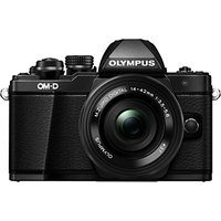 Olympus OM-D E-M10 Mark II Compact System Camera with M.ZUIKO 14-42mm EZ Lens, HD 1080p, 16.1MP, Wi-Fi, 5-Axis IS, OLED EVF, 3 LCD Tilting Touch Monitor