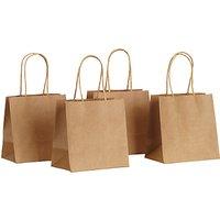 John Lewis Mini Paper Gift Bags, Pack of 4, Brown