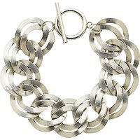 Monet Textured Double Chain Bracelet