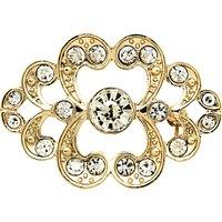 Monet Crystal Heart Brooch, Gold