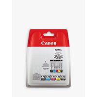 Canon PGI-570/CLI-571 Cyan, Magenta, Yellow, Pigment Black & Black Ink Cartridge Multipack, Pack of 5