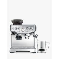 Sage Barista Express Bean-to-Cup Coffee Machine with Milk Jug, Stainless Steel